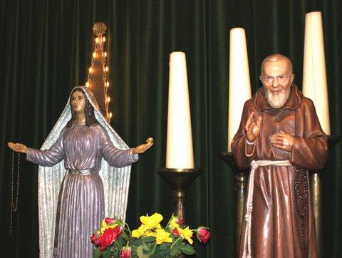 Zegeningen door pater Pio